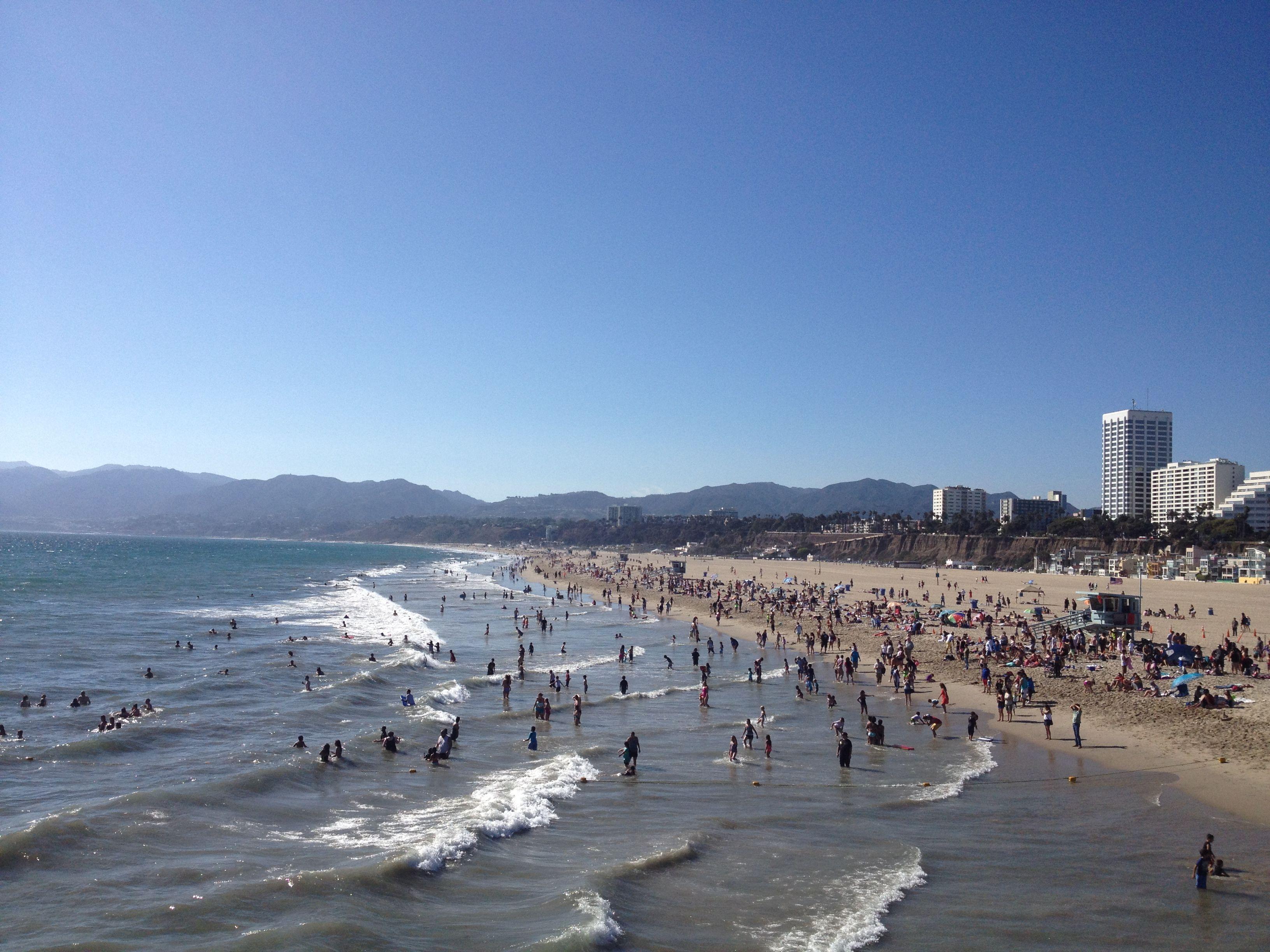 Simple Attractive !!  California Beach _ Santa Monica #LA