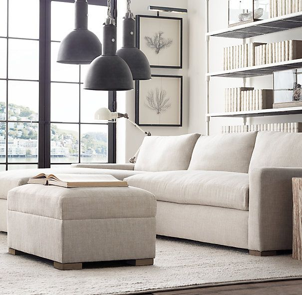 The Petite Maxwell Upholstered Left Arm Sofa Chaise Sectional