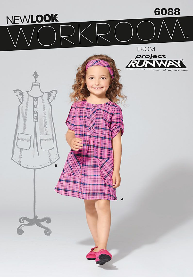 New Look Patterns 6088 Child\'s Dresses - Workroom from Project ...