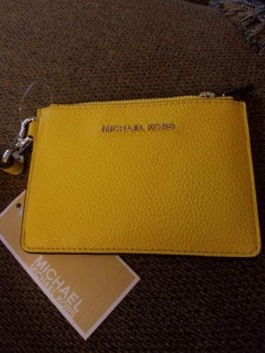 3fbc04b38ec8a7 Michael Kors Mercer Small Coin Purse ( Sunflower ) | Designer Women Bags