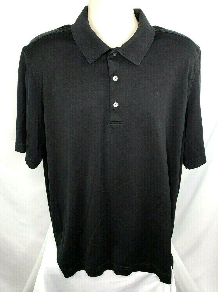 Bobby Jones Mens Xl Short Sleeve Golf Shirt Black Euc Bobbyjones Golf Mens Golf Outfit Golf Shirts Golf Outfit