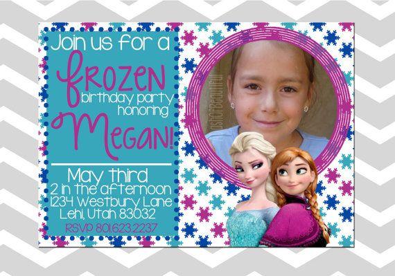 Customizable Frozen Queen Elsa Princess Anna by ADashOfBeautiful - invitation birthday frozen