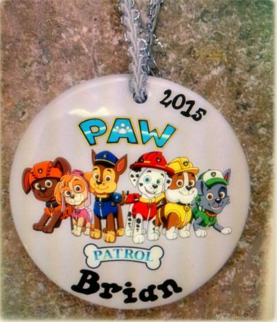Paw Patrol Christmas Ornaments Personalized.Personalized Paw Patrol Ornament Christmas Ornaments For