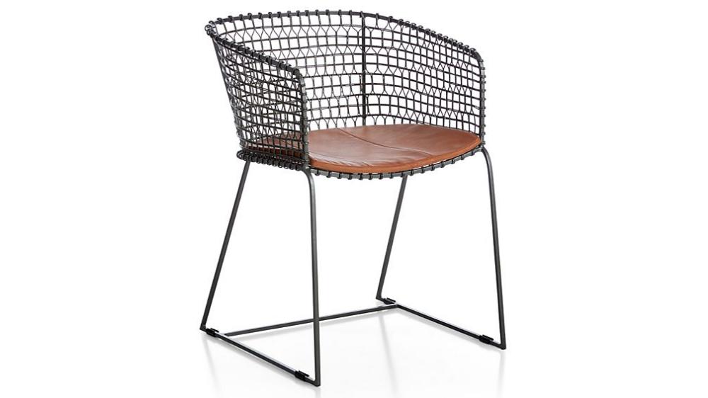 Tig Metal Barrel Dining Chair With Cushion Crate And Barrel Dining Chairs Metal Dining Chairs Metal Barrel