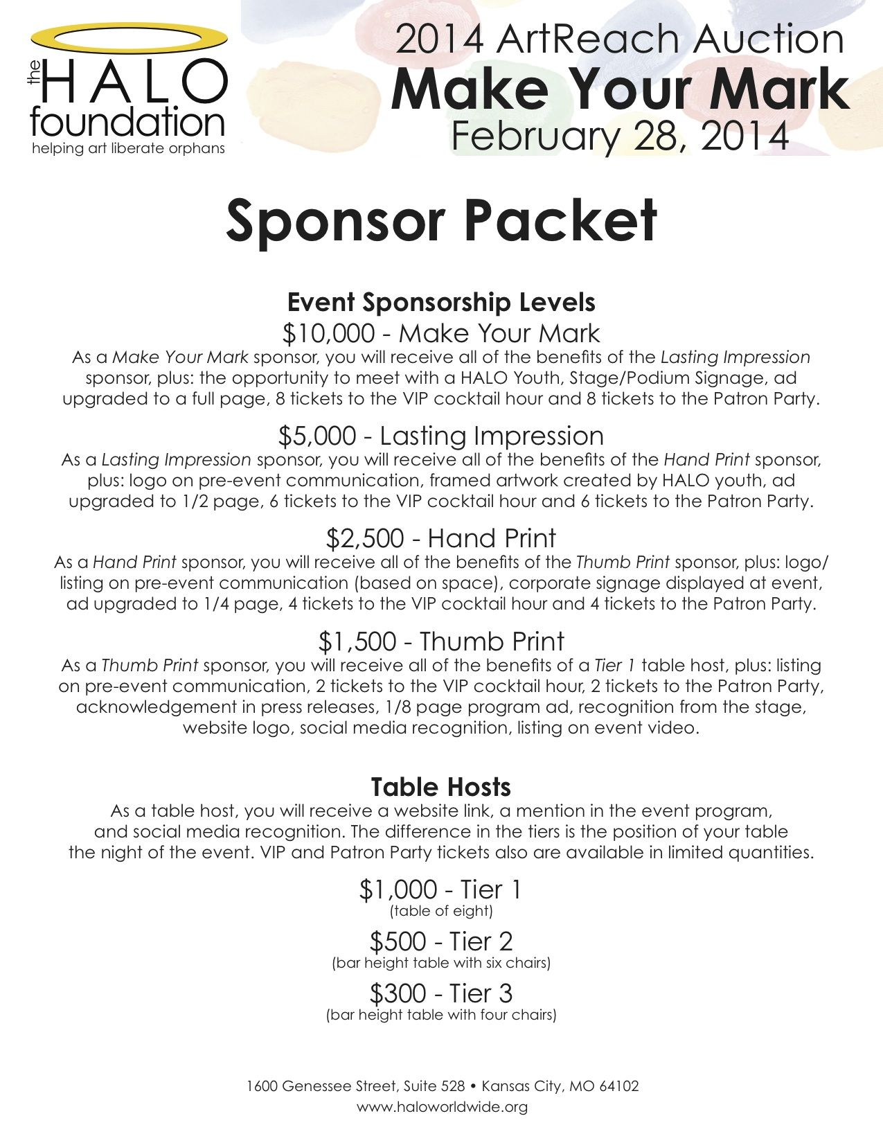 Image Result For Sponsorship Levels Letter  Pta