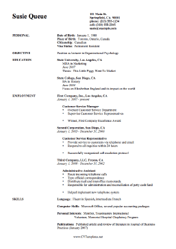 This Free Printable Cv Template Is Simple But Thorough It Covers