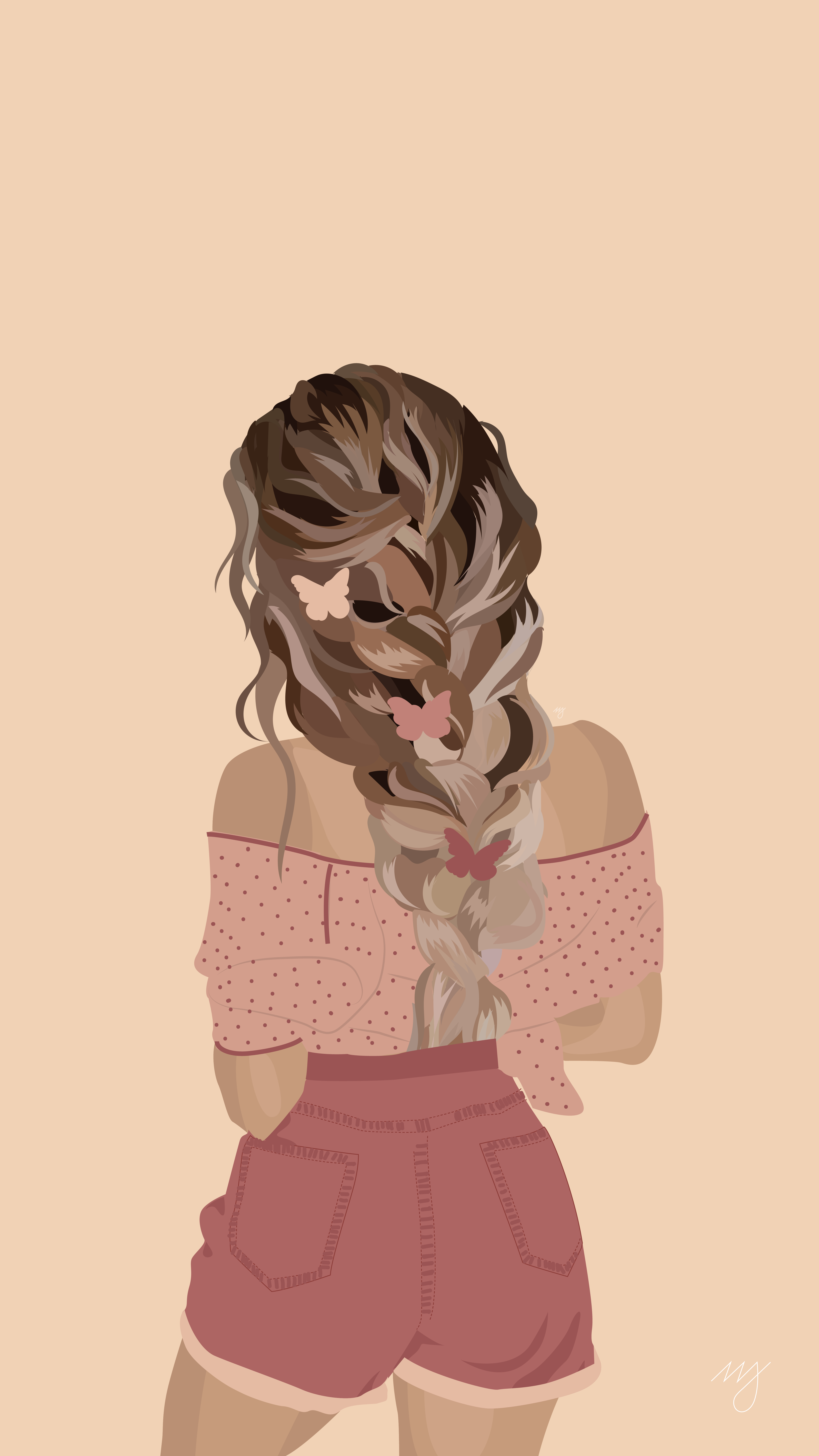 Miss Pink Coconut - Hair Illustration