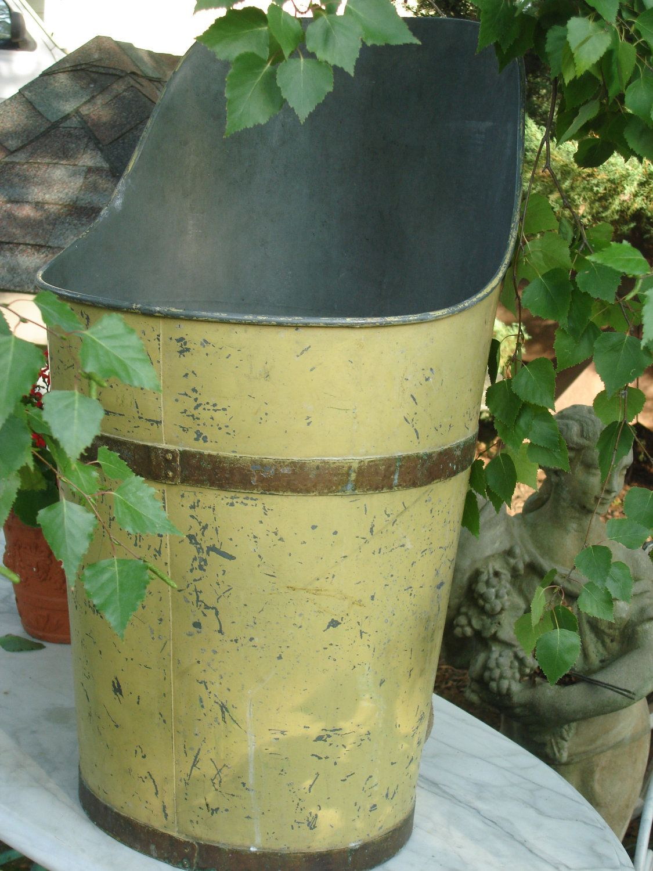 RESERVED for SANDY 775 antique french grape harvest basket metal ...