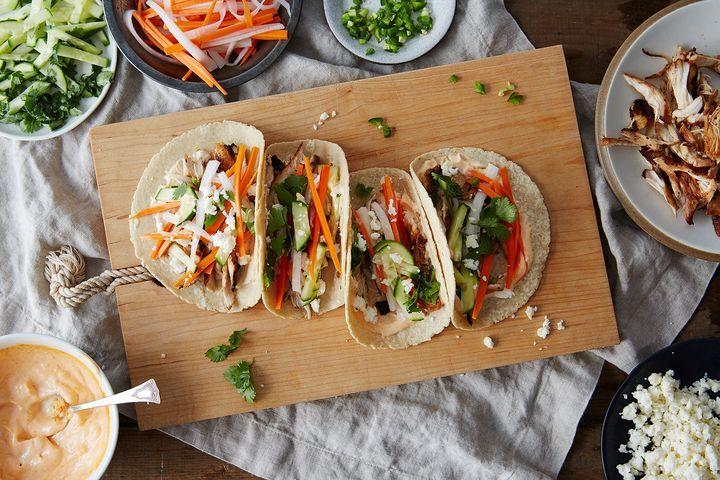 Mashup ethnic food recipes pinterest Banh Mi Soft Tacos Plus More Mashup Recipes On Food 52 Soft Tacos Recipes Recipes Food 52