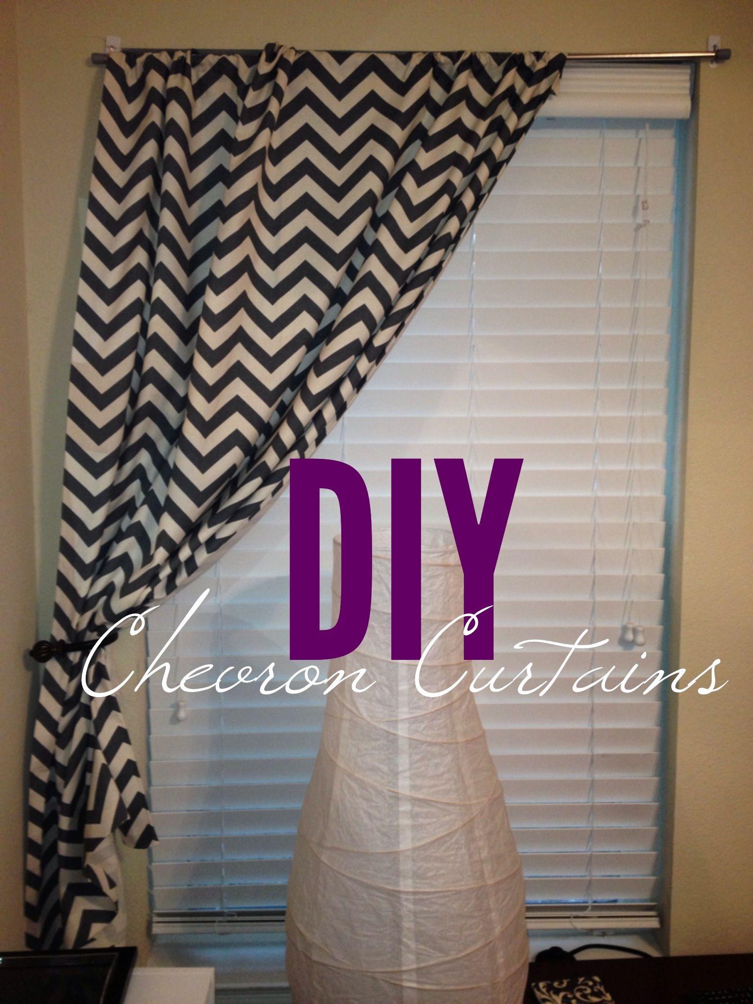 DIY NO SEW Curtains Buy Fabric From Hobby Lobby Measure Cut Buy