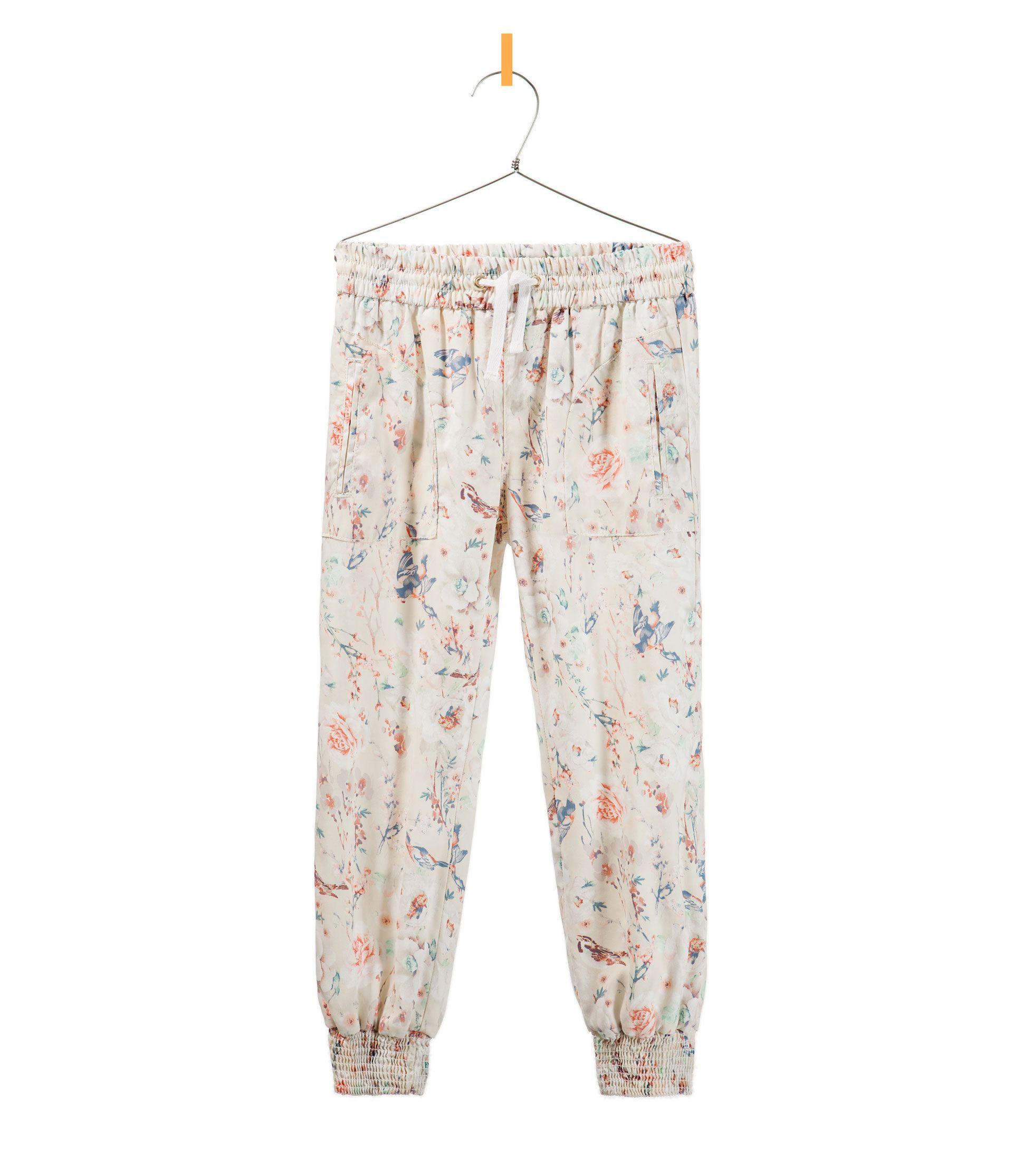 PRINTED TROUSERS WITH ELASTIC HEMS - Trousers - Girl - Kids - ZARA United Kingdom SS13