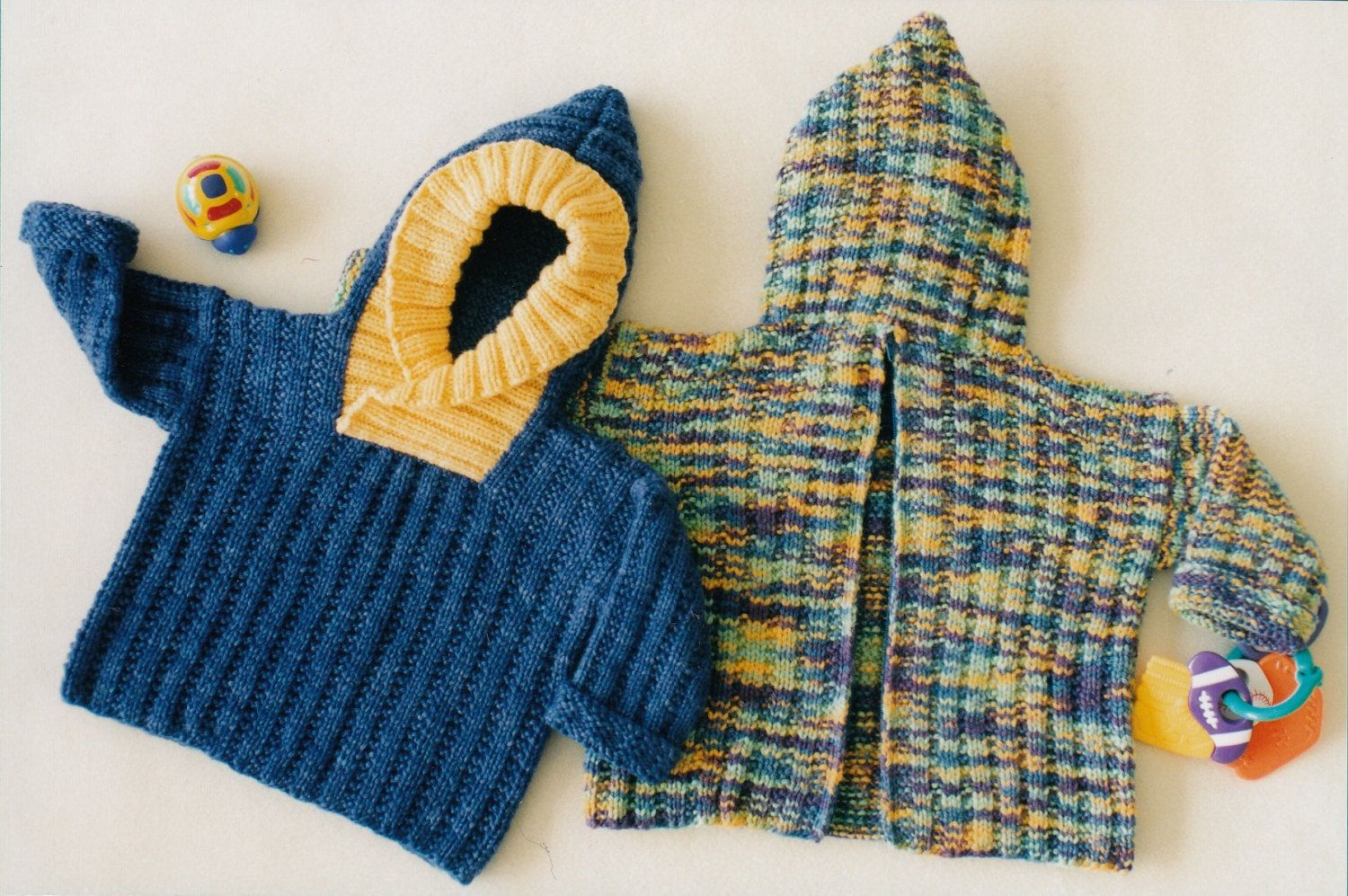 Baby Jacket with Hood Knitting Pattern - Fiber Trends Back Zip Baby ...