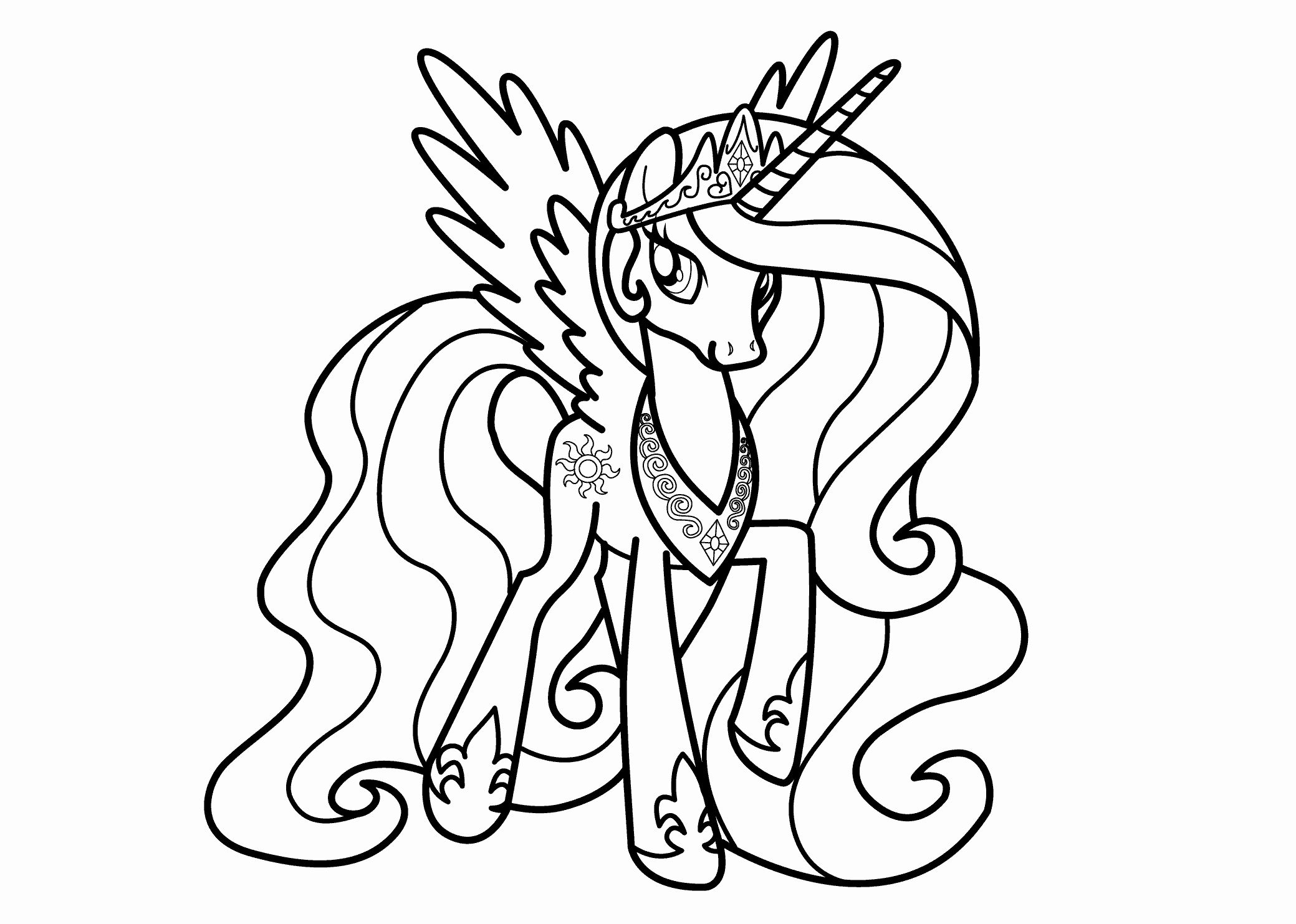 32 Princess Celestia Coloring Page Princess Coloring Pages