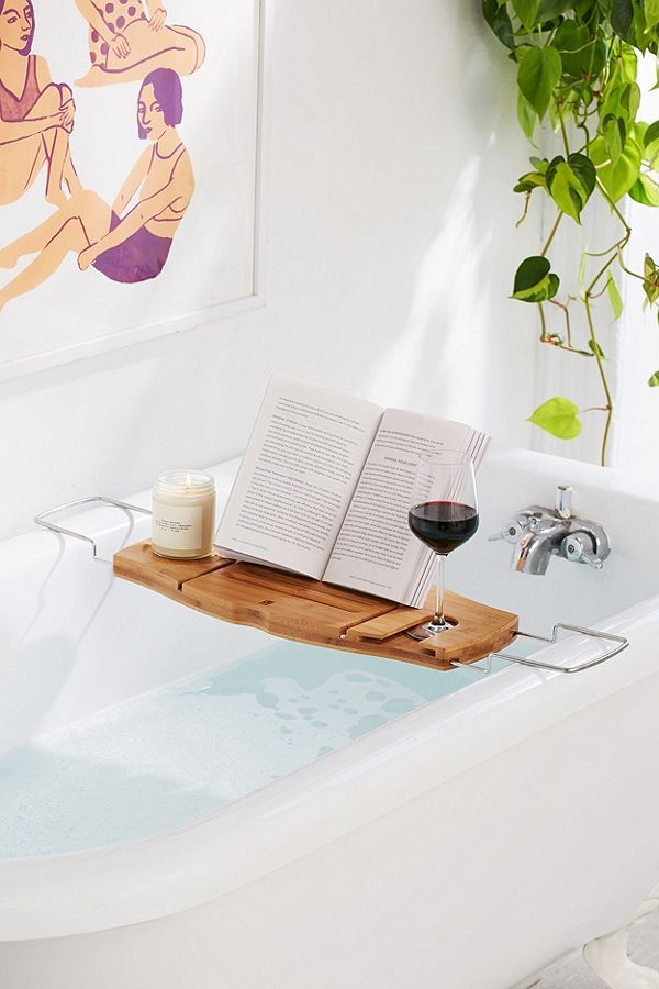 Me Time Bamboo Bath Tray Caddy | Trays, Bath and Tiny living