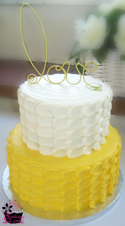 Yellow Petal Cake - Two Tier Buttercream Petal Cake | CAKE ...