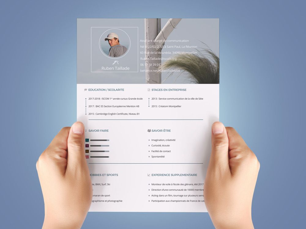 Free Personal Resume Template in PSD File Format   Free Resume ...