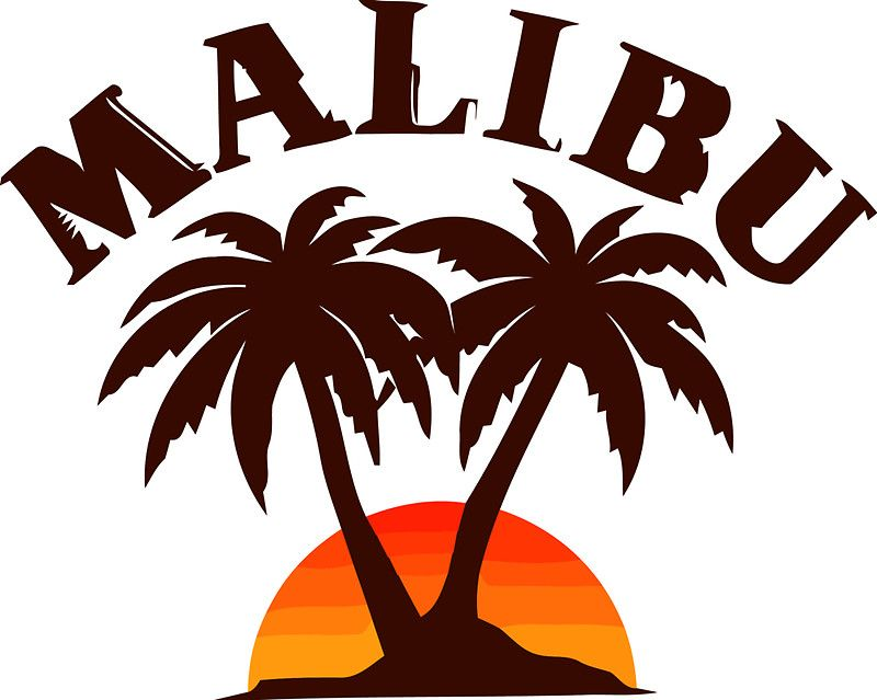 California malibu. T shirt sticker water