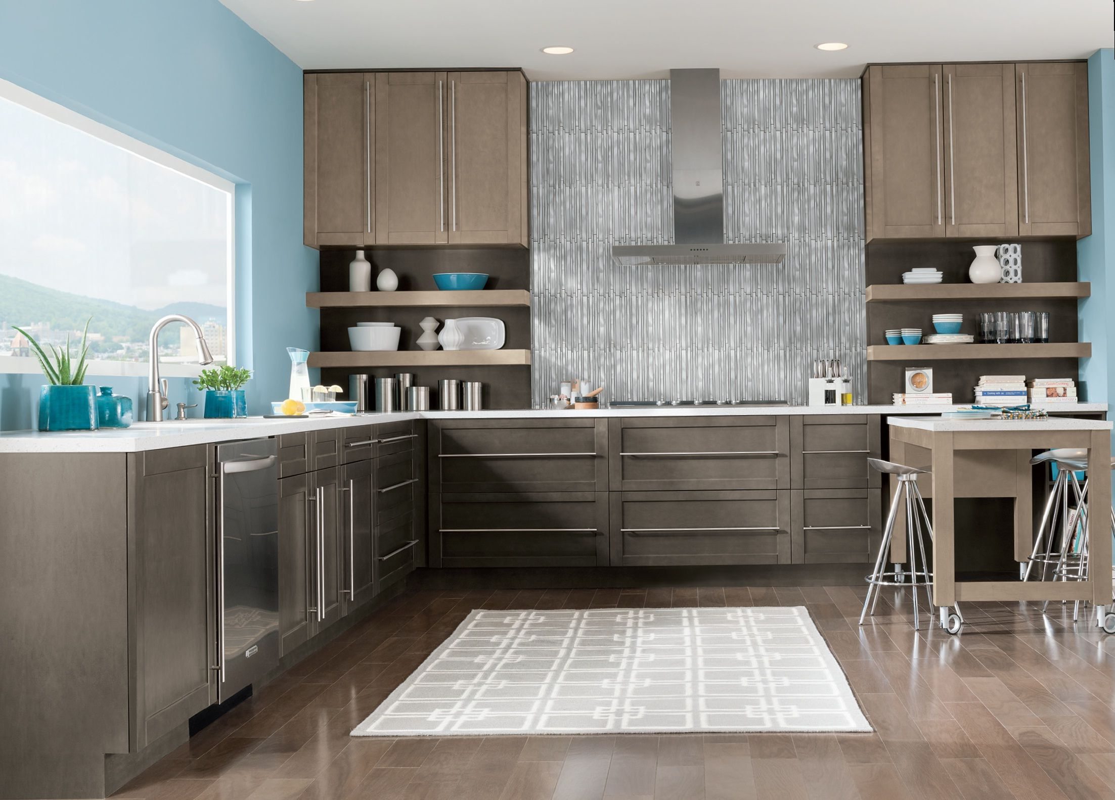Lowes espresso kitchen cabinets - Espresso Cabinets With A Unique V Groove Shaker Style Door With A Recessed Centre Panel