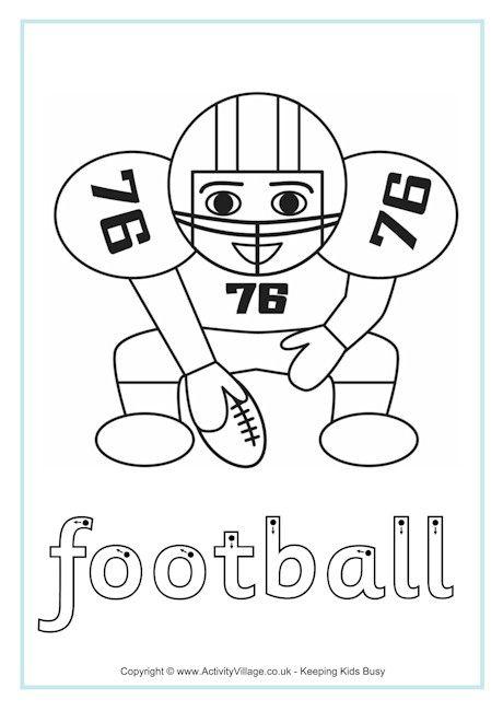 American Football Finger Tracing American Football Football Tracing Worksheets