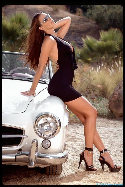 Mercedes 190Sl And Girl  Hot Rod Pin Up Perfection  Car -9519