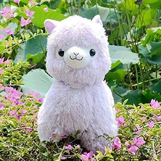 "Hot /""Fresh/"" Alpacasso Purple Alpaca 35cm Plush Amuse Arpakasso Fluffy Toy Gifts"