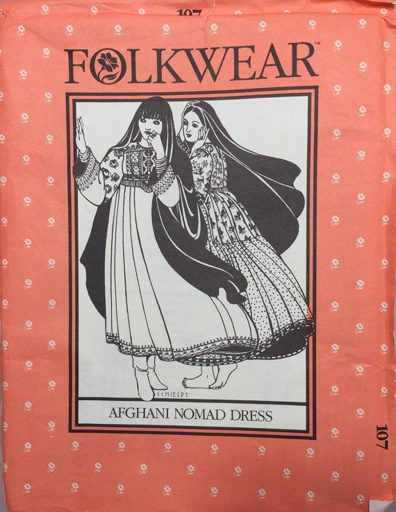 Folkwear Pattern 107 Afghani Nomad Dress Small Medium by DayFinds