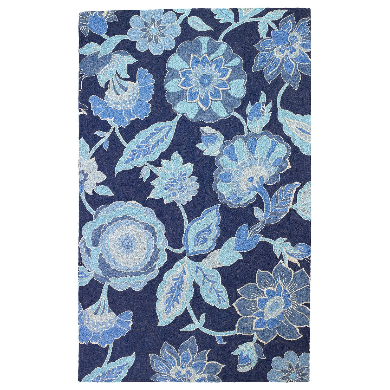 Company C Blue By You Hand Hooked Wool Rug Laylagrayce