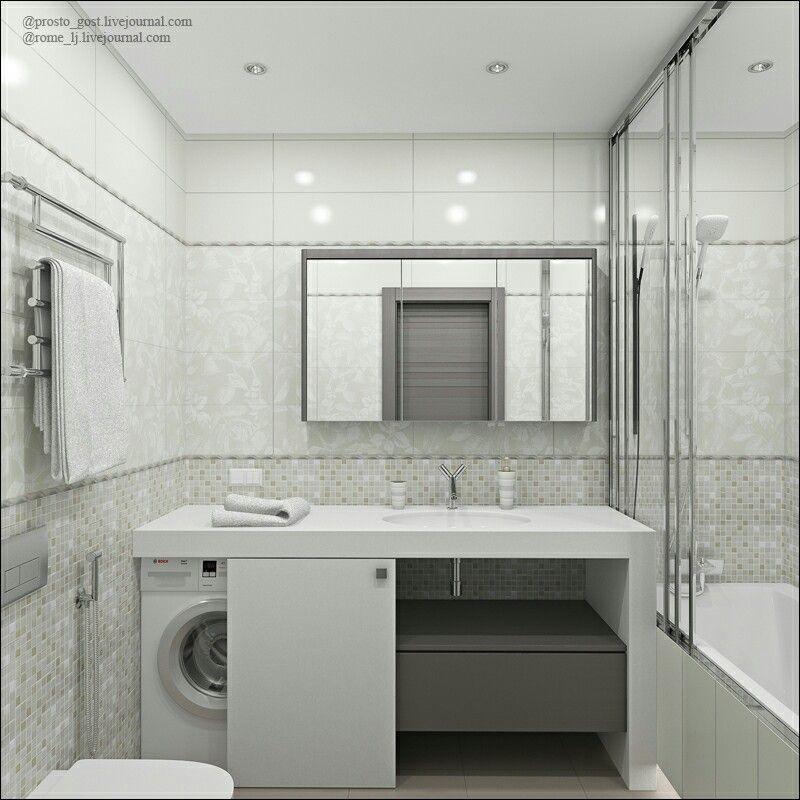 Like the door solution for the washing machine | Küçük ... on Small Space Small Bathroom Ideas With Washing Machine id=71661