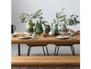 Solomon Hammered Brass Small Vase Dining Table Centerpiece Stylish Table Setting Habitat Furniture