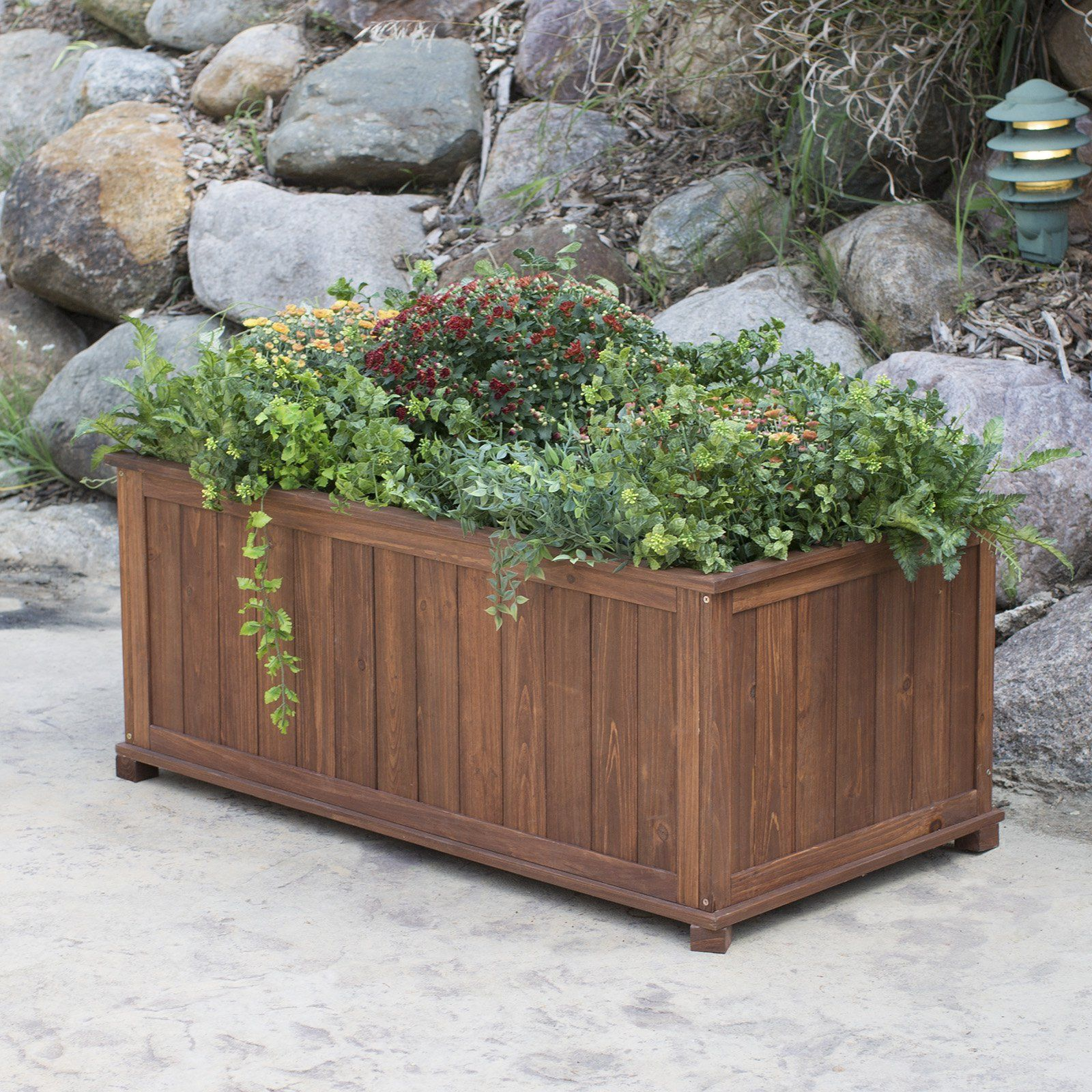 Have to have it Coral Coast Rectangular Wood Aster Patio Planter