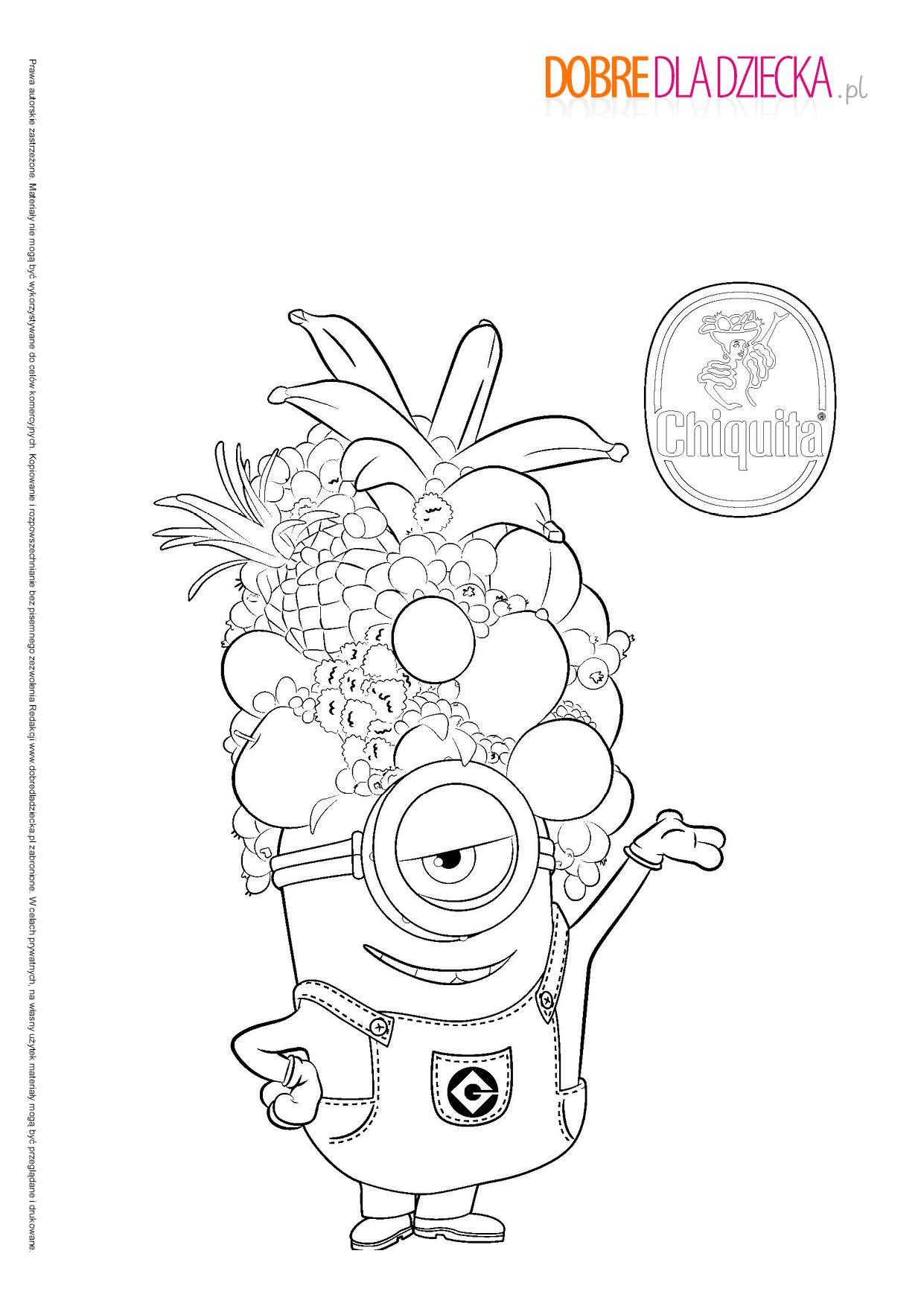 Dobredladziecka Kolorowanka Minionki Minions Coloring Pages Minion Coloring Pages Cartoon Coloring Pages