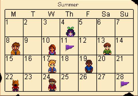Stardew Calendar.Pin By Sarabeth W On Stardew Valley Stardew Valley Calendar