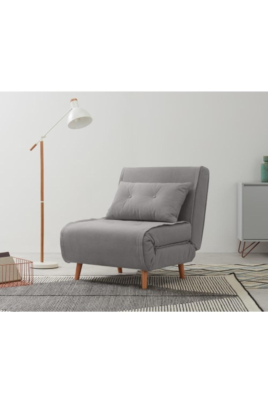 Haru Single Sofa Bed, Marshmallow Grey