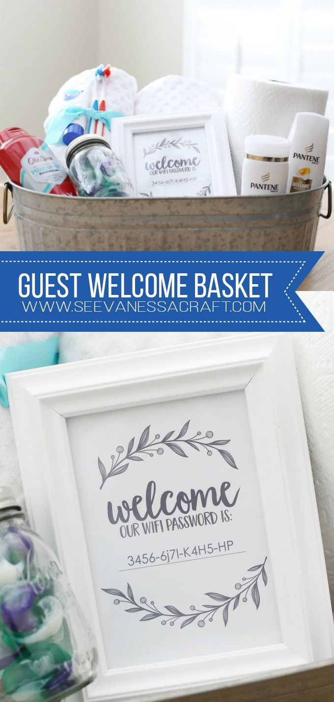 DIY: Guest Welcome Basket and Wifi Password Sign images
