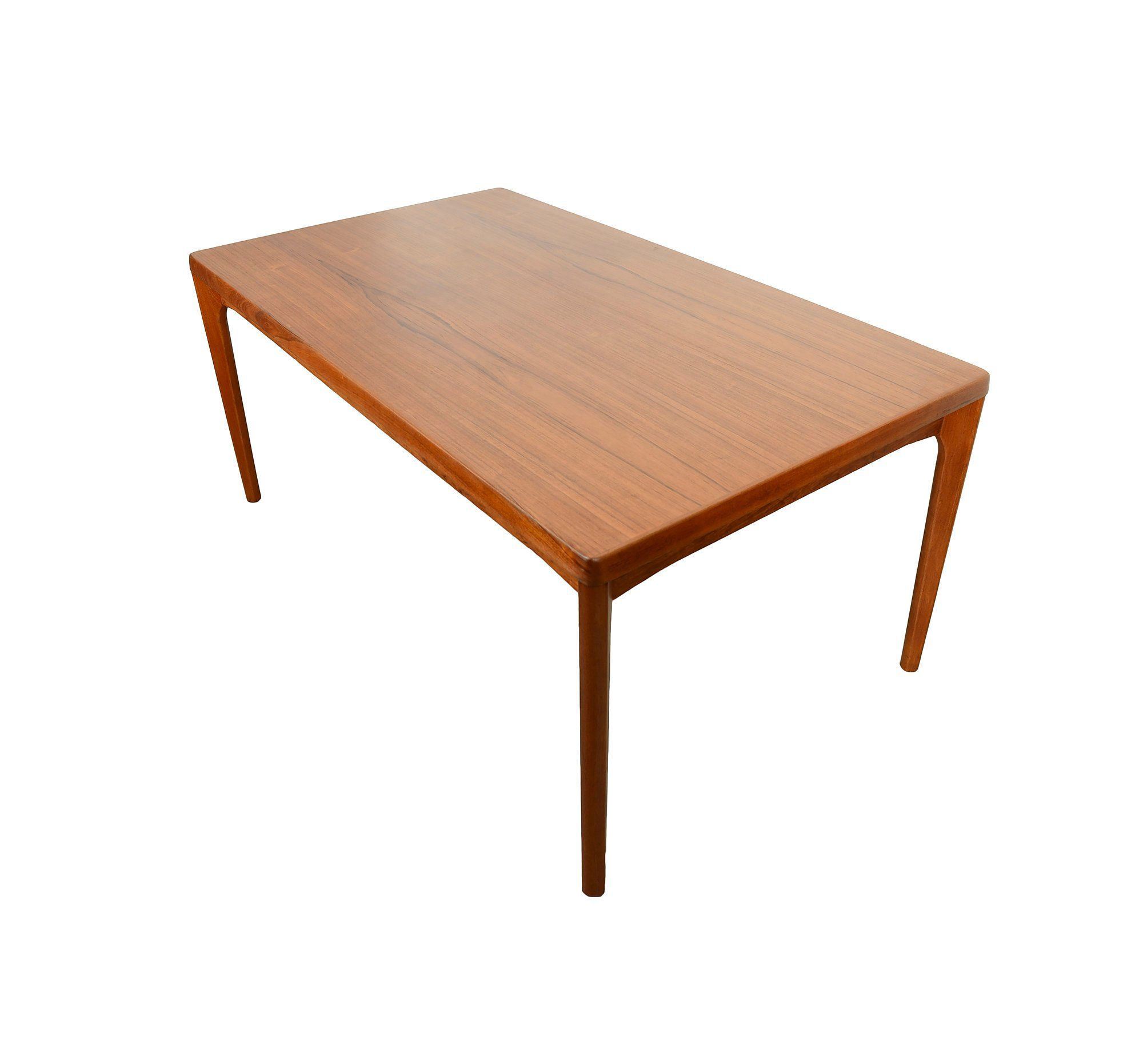 Large teak dining table with 2 leaves danish modern dutch leaves by hearthsidehome on etsy