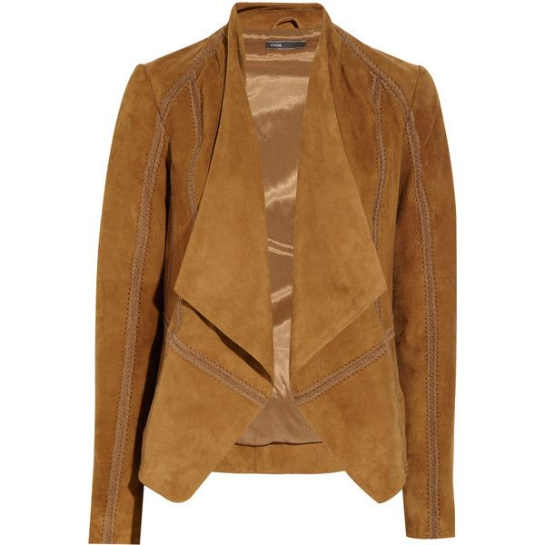 penny draped drapes faux wearing fashion m i jacket pincher suede what cognac
