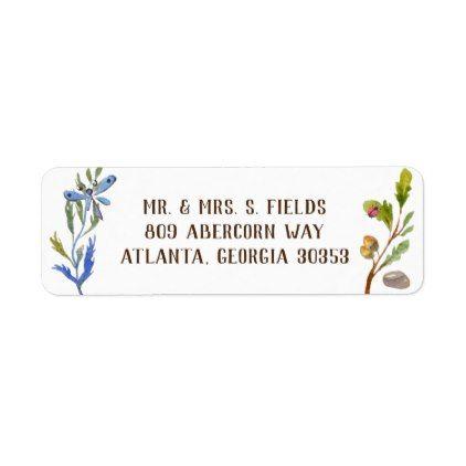 nature buggy woodland watercolor label return address