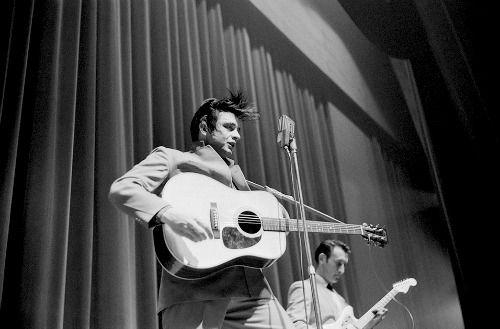 Johnny Cash photographed by Marvin Koner February 1959, White Plains, New York