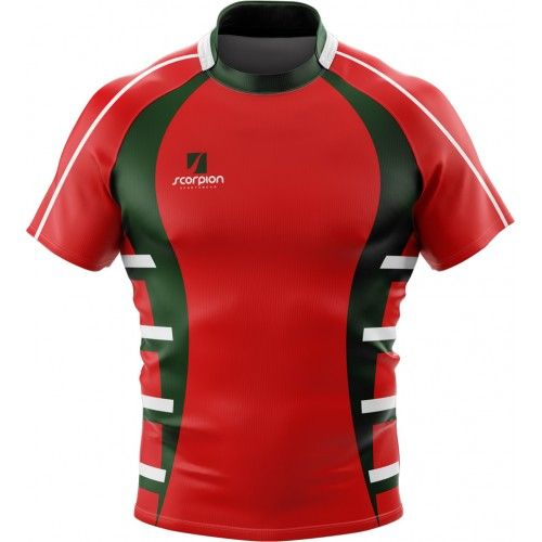 Scorpion Sports Uk Printed Rugby Shirts From Just 6 In Your Own Bespoke Design Or Colour Rugby Shirt Rugby Design Rugby Jersey Design