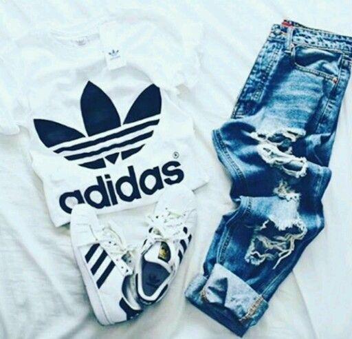 Adidas》conjunto adidas | Roupas adidas femininas, Roupas