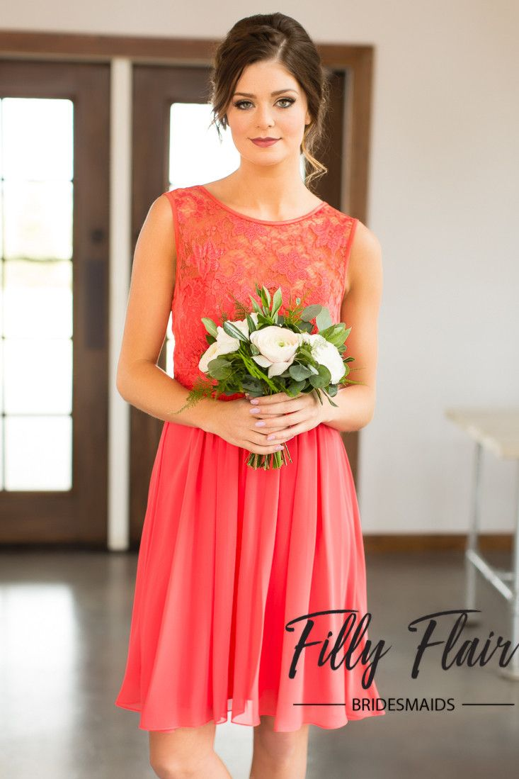 Penelope bridesmaid dress in coral wedding weddings and wedding dress