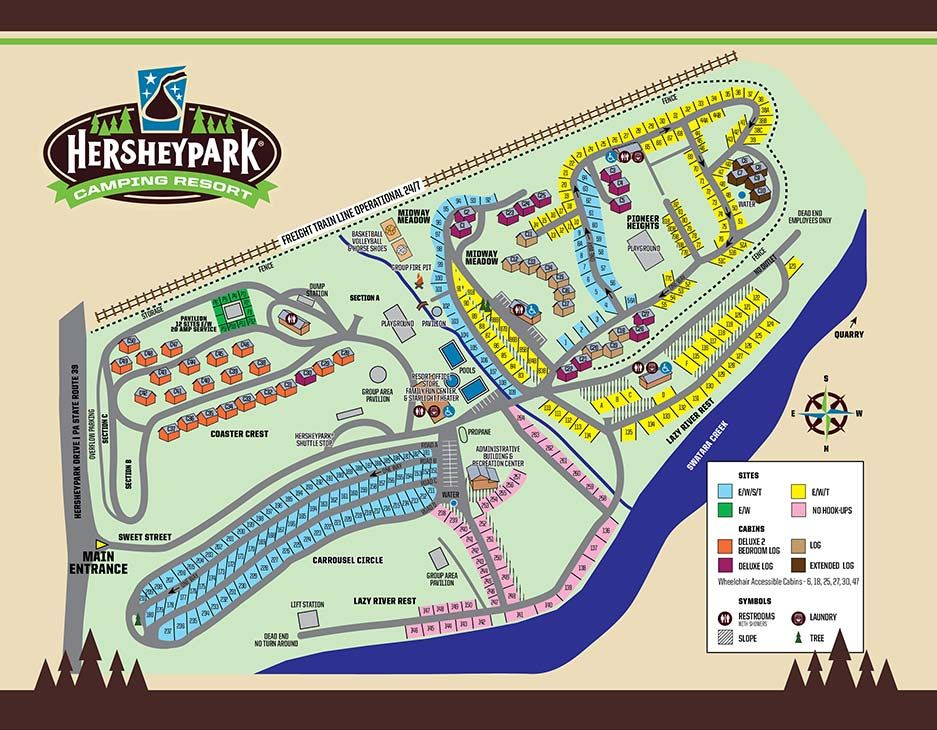 Hershey Park Campground Map Camping Resort Camping Camping Destinations