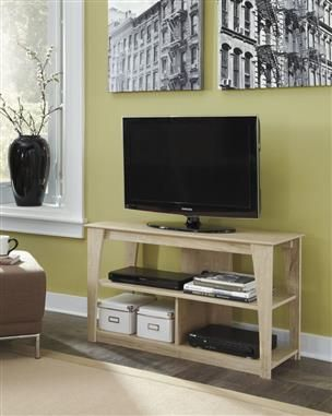 Elander Cream Wood Tv Stand Tv Stand Wood Furniture Rustic Tv Stand