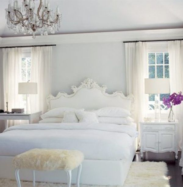white romantic cosy bedroom design ideas | bed rooms designs for