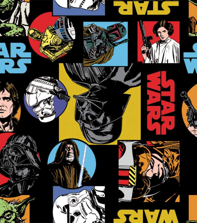 Star warsu fleece fabric uu cartoon characters star wars