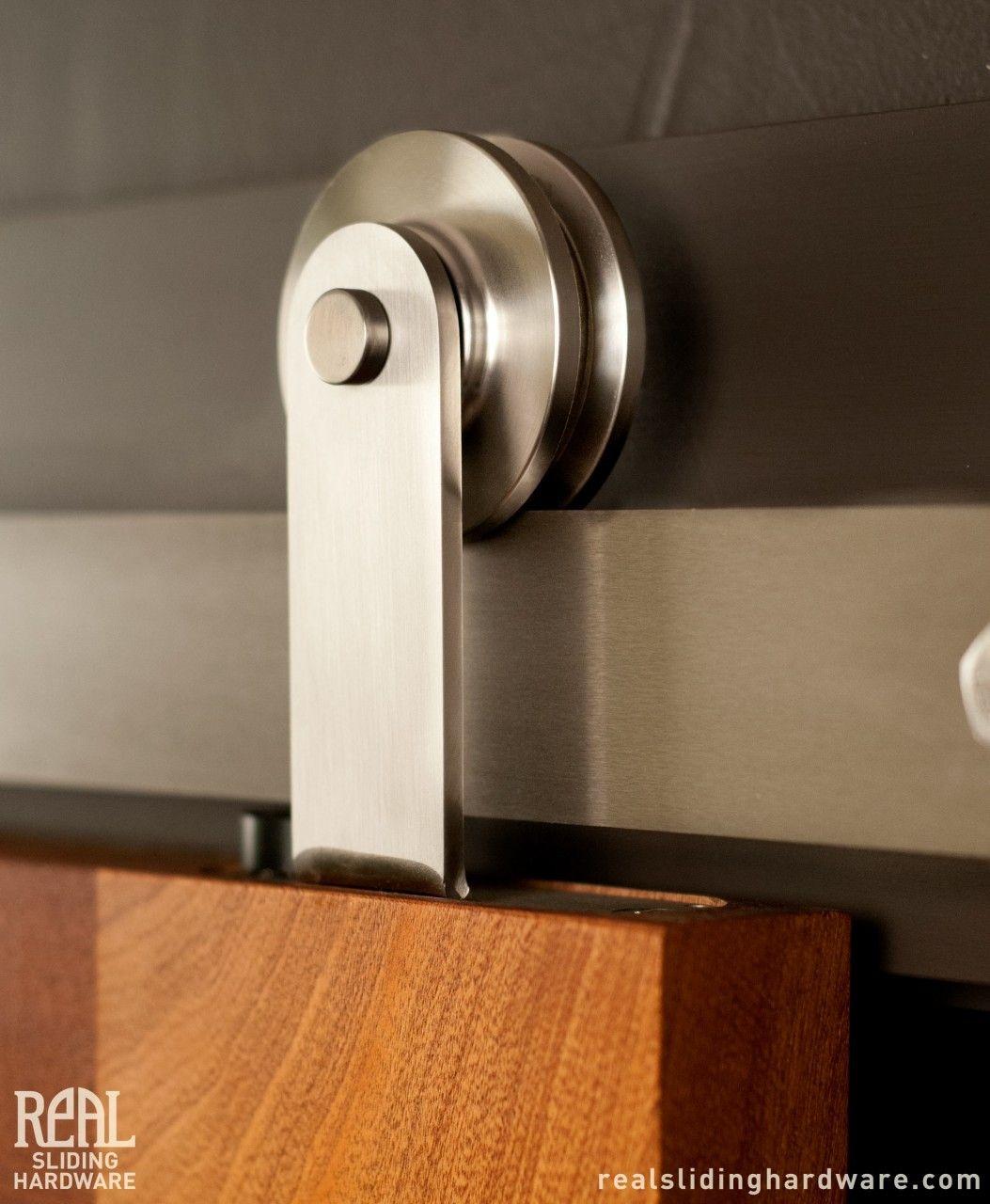 Real Sliding Hardware - Stainless Aero Barn Door Hardware, $661.00 (http://www.realslidinghardware.com/stainless-aero-barn-door-hardware/)
