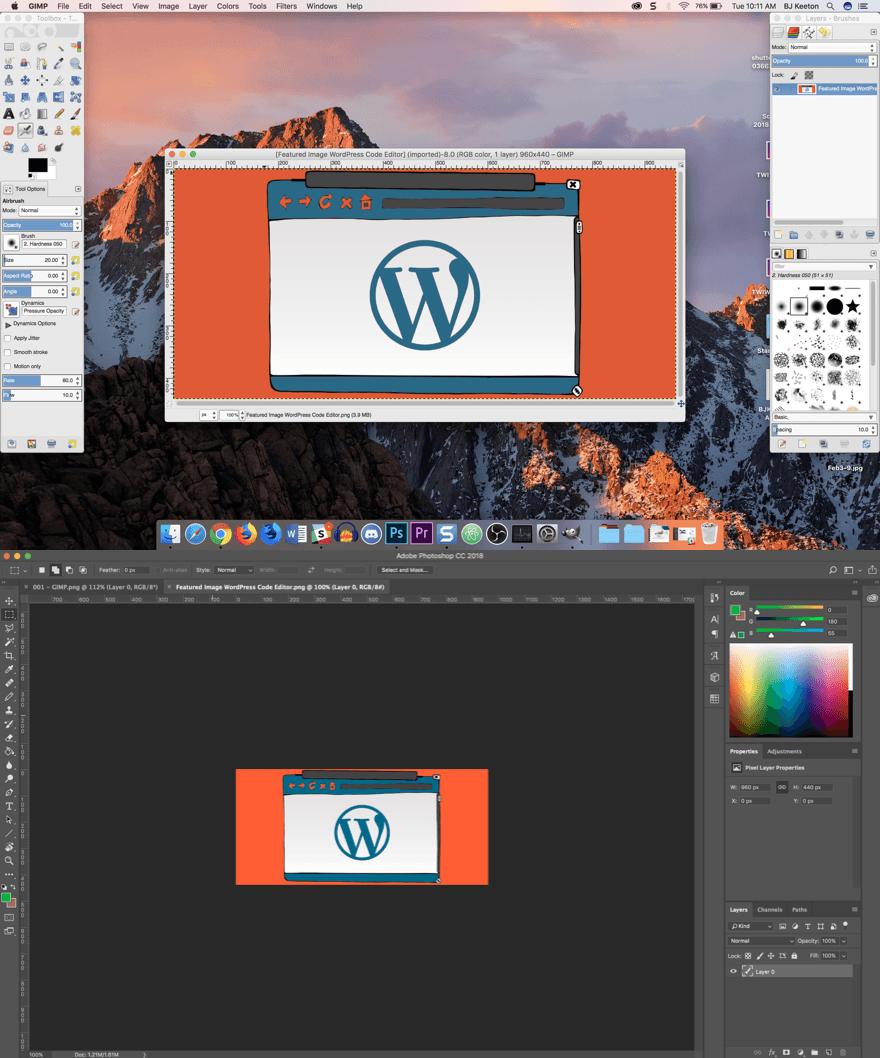 GIMP The Free Visualmodo WordPress Themes