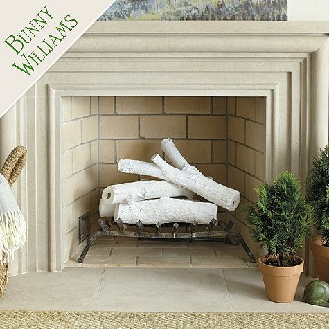Bunny Williams Bisque Logs - Set of 4 - or just paint real logs for a fun & inexpensive twist!!