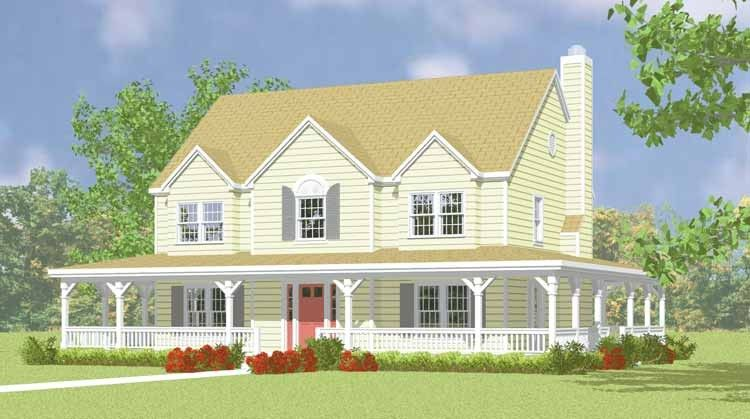 Eplans Farmhouse House Plan Two Story Country Home