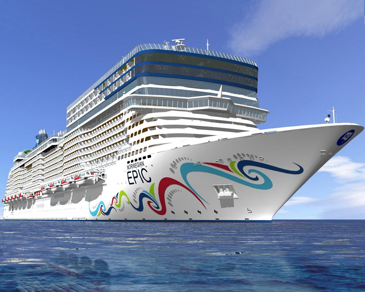 Norwegian Epic Feature The Largest Spa And Fitness Center